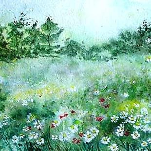 Art: Field of daisies by Artist Ulrike 'Ricky' Martin