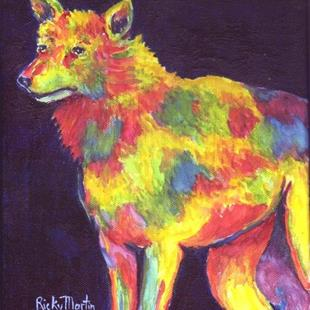 Art: Abstract Wolf ( available in my ebay store) by Artist Ulrike 'Ricky' Martin