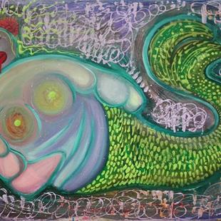Art: The Fat Mermaid by Artist Laura Barbosa