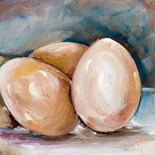 Art: Brown Eggs-SOLD by Artist Delilah Smith