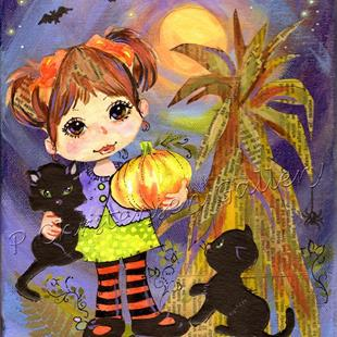 Art: Halloween Charms by Artist Patricia  Lee Christensen