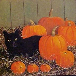 Art: NINE PUMPKINS LEFT by Artist Rosemary Margaret Daunis