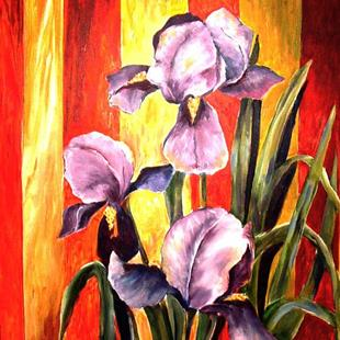 Art: Royal Iris - SOLD by Artist Diane Millsap