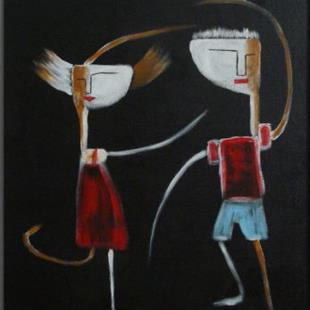 Art: ORIGINAL abstract FIGURATIVE PAINTING , MODERN Art     -       SOLD by Artist Nataera