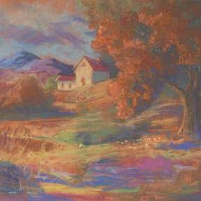 Art: The Farmhouse On The Hill by Artist Carol Thompson