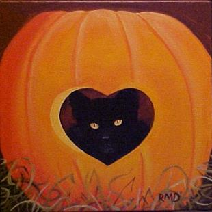 Art: HEART OF A PUMPKIN by Artist Rosemary Margaret Daunis