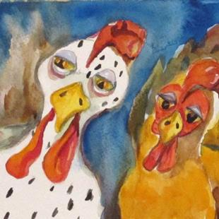 Art: The Chicken Odd Couple by Artist Delilah Smith