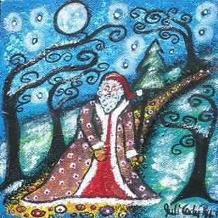 Art: Santa's Walk by Artist Juli Cady Ryan