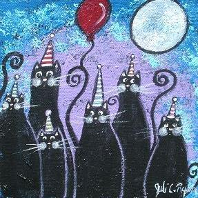 Art: Party Cats by Artist Juli Cady Ryan