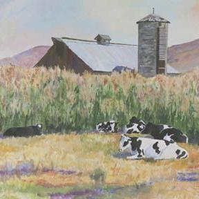 Art: Cows In The Corn by Artist Carol Thompson