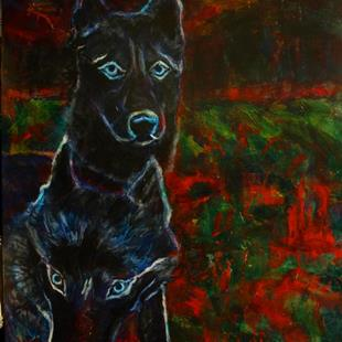 Art: Ghost Dogs by Artist Virginia Ann Zuelsdorf