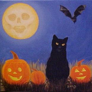 Art: HALLOWEEN  NIGHT by Artist Rosemary Margaret Daunis