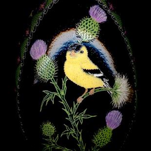 Art: Gold Finch Thistle by Artist So Jeo LeBlond