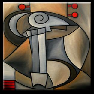 Art: Cubist-099-3030-Angel-Dance-2.jpg by Artist Thomas C. Fedro