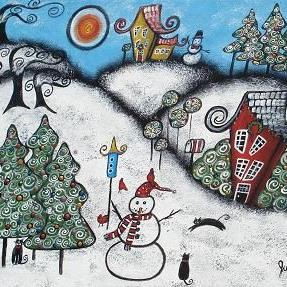 Art: A Magical, Merry Christmas by Artist Juli Cady Ryan
