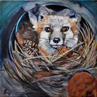 Art: Fox Den by Artist Heather Sims