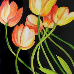 Art: TULIP GLORY by Artist Marcia Baldwin