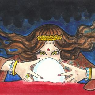 Art: Fortune Teller by Artist Emily J White