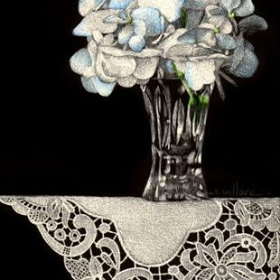 Art: Hydrangea Sprig by Artist Sandra Willard