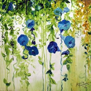Art: MORNING GLORIES ABSTRACT by Artist Marcia Baldwin