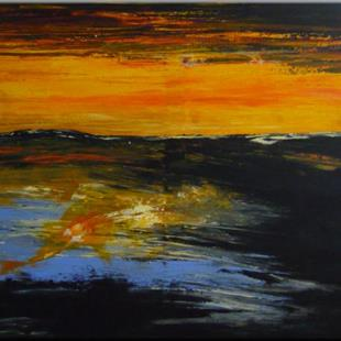Art: ORIGINAL ABSTRACT LANDSCAPE PAINTINGS by Artist Nataera