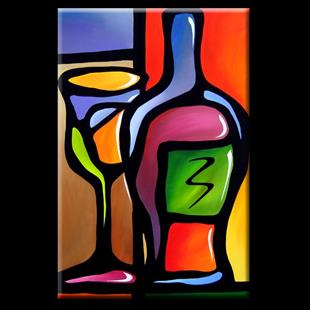 Art: Wine-099-2436-Service-For-One-2.jpg by Artist Thomas C. Fedro