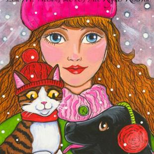 Art: Winter Friends by Artist Lisa M. Nelson