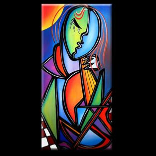 Art: Cubist-102-1836-Cello-2.jpg by Artist Thomas C. Fedro
