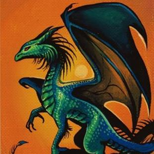 Art: Dragon-aceo by Artist Nico Niemi