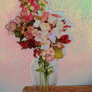 Art: Still Life with Flowers by Artist Carolyn Schiffhouer