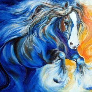Art: ZORRO the Gypsy Vanner by Artist Marcia Baldwin