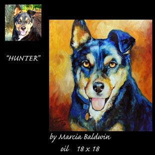 Art: PORTRAIT of HUNTER by Artist Marcia Baldwin