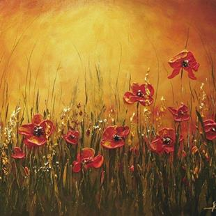 Art: Meadow with Poppies by Artist Ewa Kienko Gawlik