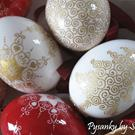 Art: Etched & 23k Gilded Christmas Eggs by Artist So Jeo LeBlond