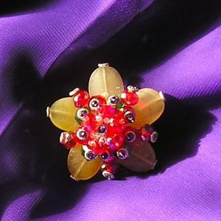 Art: Christmas Lights brooch by Artist Alma Lee