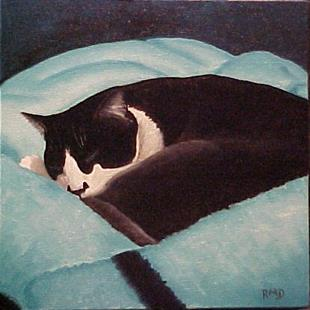 Art: ZORRO'S BLANKET by Artist Rosemary Margaret Daunis