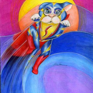 Art: Super Tiger! SOLD by Artist Alma Lee