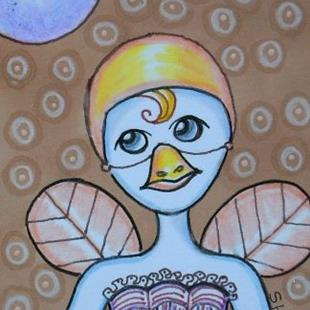 Art: Substitute Canary Fairy-Sold by Artist Sherry Key