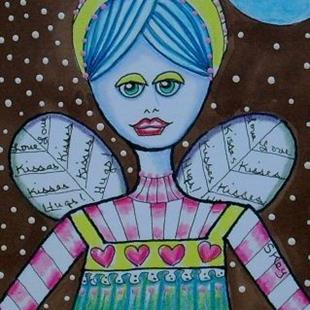 Art: Love, Hugs, Kisses-Sold by Artist Sherry Key