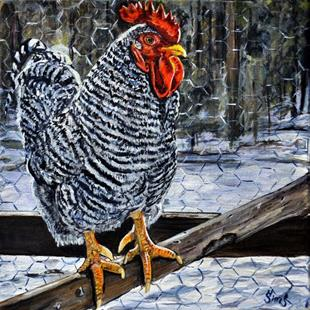 Art: Terry the rooster by Artist Heather Sims