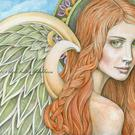Art: Angel of Wisdom by Artist becki bolton blackburn