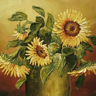 Art: Sunflowers by Artist Ewa Kienko Gawlik