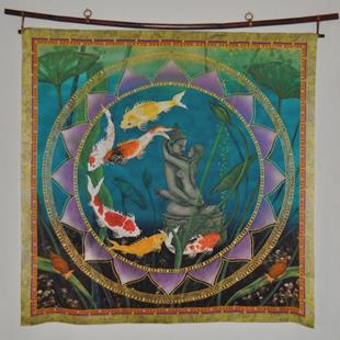 Art: Sacred Pond Wall Hanging or Square by Artist Nadean O'Brien