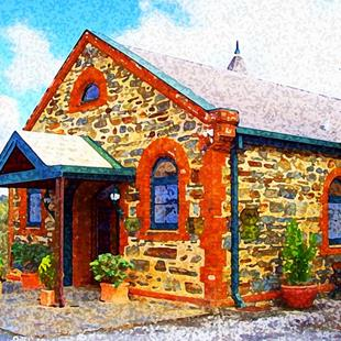 Art: An afternoon at Grant Burge Winery Barossa Valley by Artist Joan Hall Johnston
