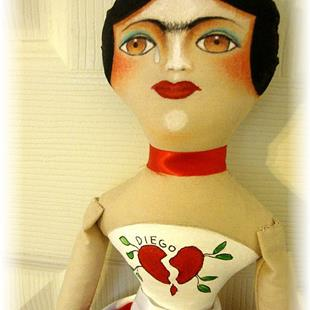 Art: FRIDA DIEGO with BROKEN HEART by Artist Cyra R. Cancel