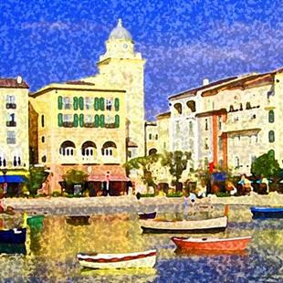 Art: View at the Portofino Hotel Orlando #1 by Artist Joan Hall Johnston