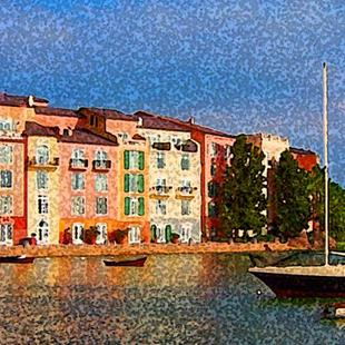 Art: View at the Portofino Hotel Orlando #2 by Artist Joan Hall Johnston