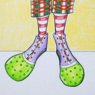 Art: Clown Shoes-Sold by Artist Sherry Key