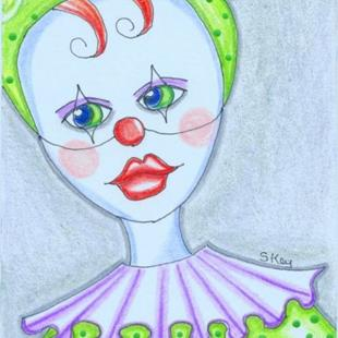 Art: Baby Mouse Clown-Sold by Artist Sherry Key