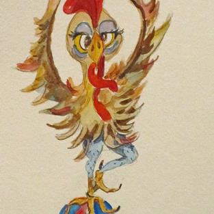 Art: Circus Chicken by Artist Delilah Smith